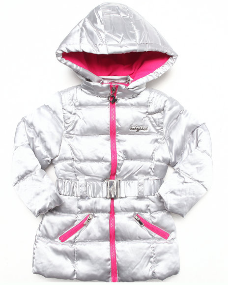 Baby Phat Girls Silver Fly Cat Parka (2T-4T)