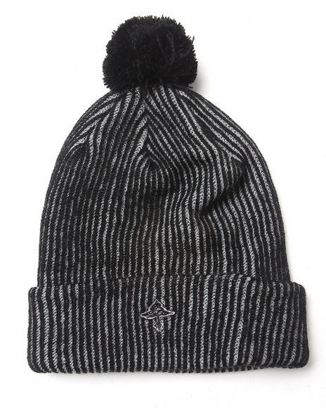 Lrg Men Retro Eternity Acrylic Beanie Black
