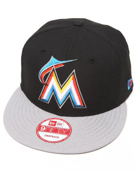 New Era - Miami Marlins Blk/Grey Custom Snapback Hat