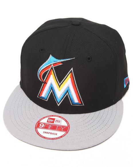 New Era - Miami Marlins Blk/Grey Custom Snapback Hat