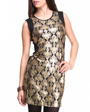ROMEO & JULIET COUTURE - Metallic Print Sheath Dress