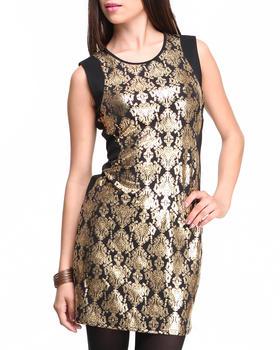 ROMEO & JULIET COUTURE - Metallic Print Sheath Dress