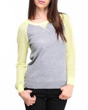 Sweaters - 4th Quarter Pullover w/raglan mesh sleeves