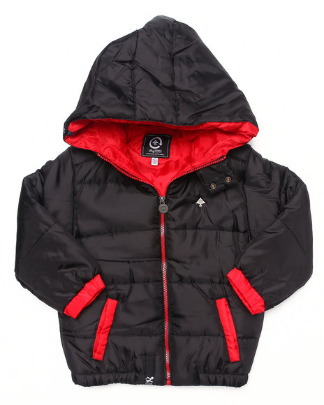 LRG Boys Black Core Puffer Jacket (4-7)
