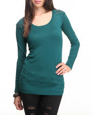 Women - Studded Tunic Sweater