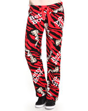 Graphix Gallery - Animal Printed Betty Boop Plush Pant