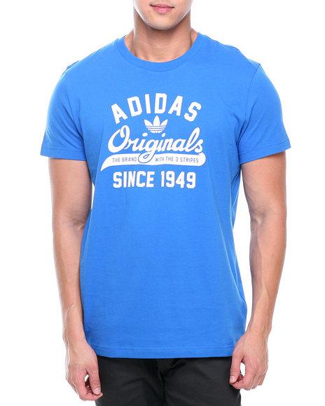 Adidas Blue Originals Script Tee