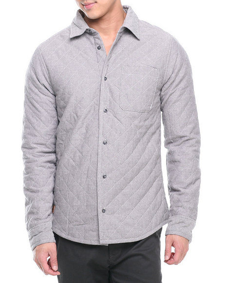Altamont Grey Straightaway Quilted Oxford Shirt Jacket