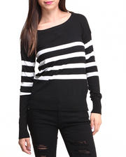 Sweaters - Lucy Pullover Stripe Sweater