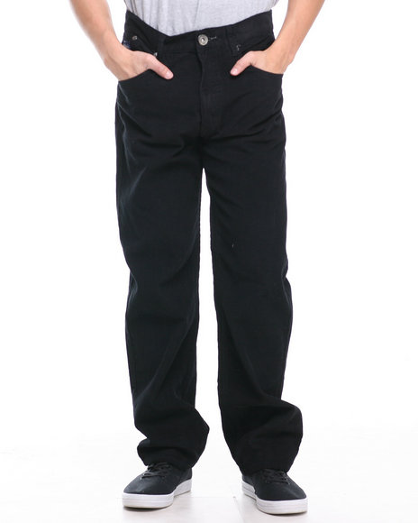 Akademiks Black Nixon 5 Pocket Corduroy Pants