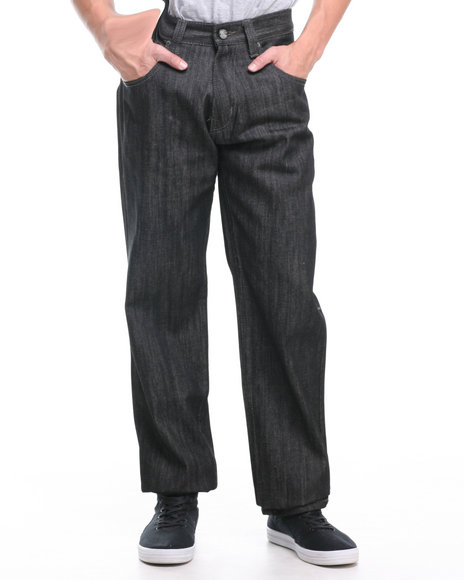 Enyce Black Essence Embo Raw Denim Jeans