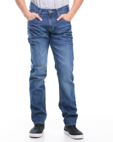 Enyce Light Wash Revolution Flap Denim Jeans