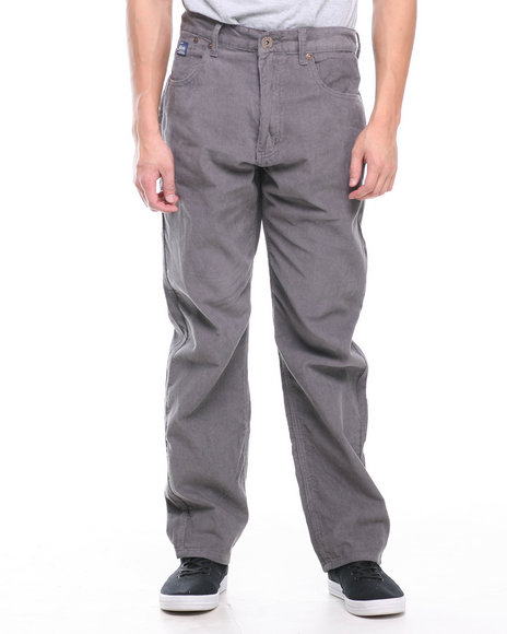 Akademiks - Men Charcoal Nixon 5 Pocket Corduroy Pants