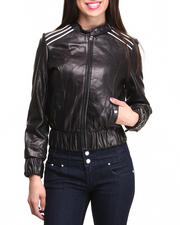DRJ Leather Shoppe - Lamb Skin Leather Racing Jacket