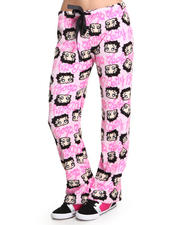 Women - Betty Boop Plush Printed Pants