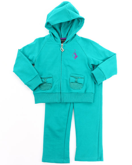 Baby Phat - Girls Teal 2 Pc French Terry Set (2T-4T)