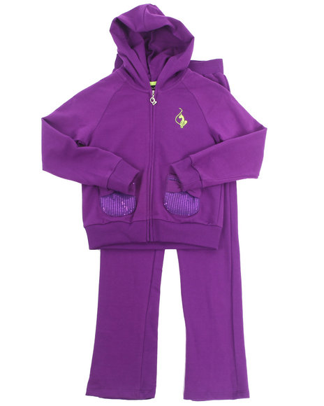 Baby Phat - Girls Purple 2 Pc French Terry Set (7-16)