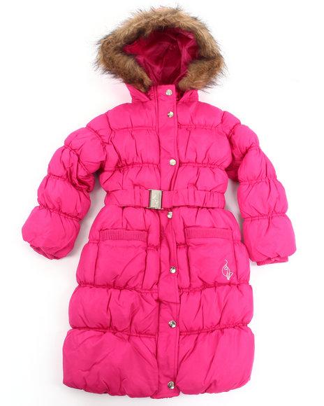 Baby Phat Girls Dark Pink It's Down Long Coat (4-6X)