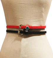 Women - Vegan Leather Duo Belt Set