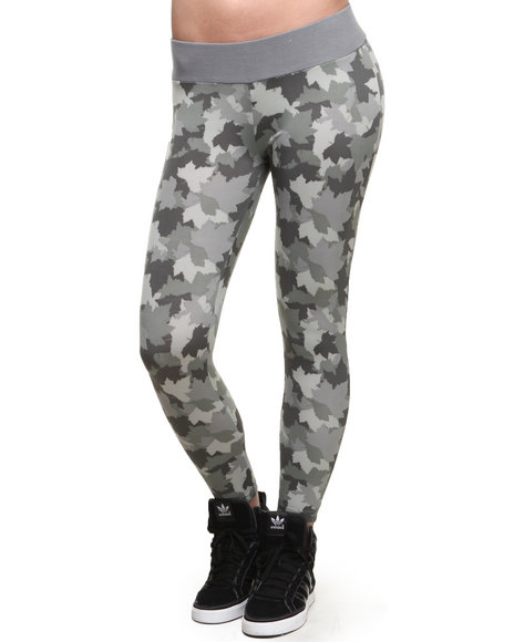 Lrg - Women Camo,Grey Camo Leaf Legging