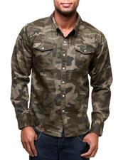 Long-Sleeve - Camo Twill Woven Shirt