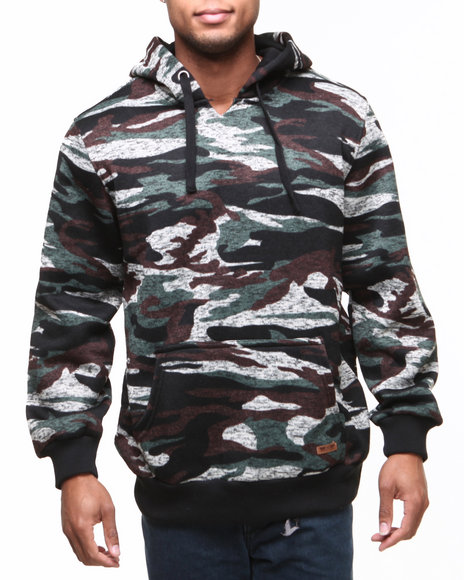 MO7 Olive Camo Knit Pullover Hoodie