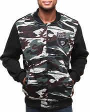 Light Jackets - Camo Sweater body w/ fleece sleeves Jacket