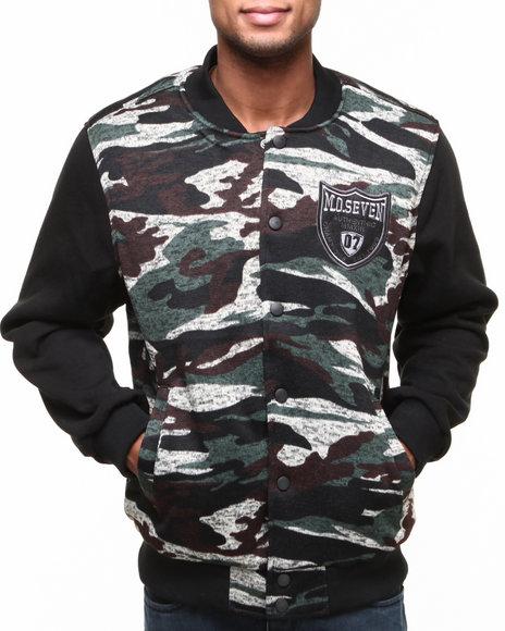 MO7 Olive Camo Sweater Body W/ Fleece Sleeves Jacket