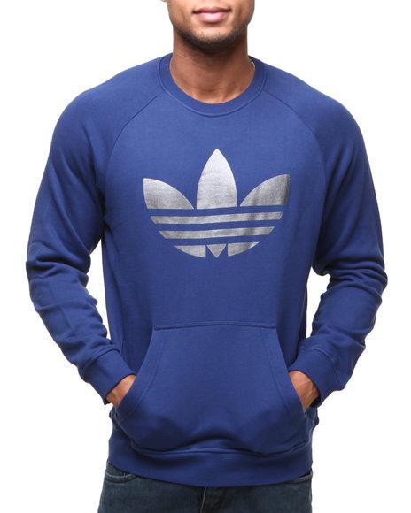 Adidas - Men Blue Sportlite Print Crewneck Sweatshirt