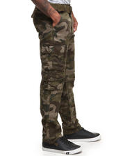 Jeans & Pants - Camo Cargo Pants with Belt
