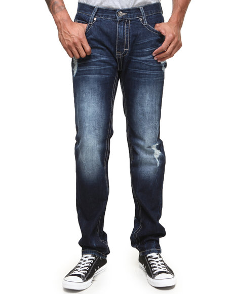 Buyers Picks - Men Dark Wash Diety Sandblast Vintage Washed Denim Jeans - $31.99