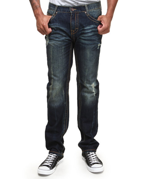 Buyers Picks - Men Vintage Wash Diety Sandblast Vintage Washed Denim Jeans