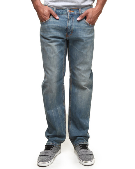 LRG - Men Medium Wash The Great Escape True-Straight Jeans