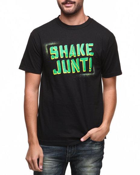 Shake Junt Black,Green Stencil Tee