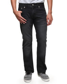 Basic Essentials - Dirty Black Pinch Pocket Denim Slim Straight Jeans