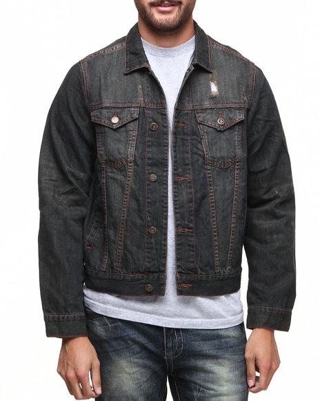 Basic Essentials - Men Vintage Wash Denim Jacket