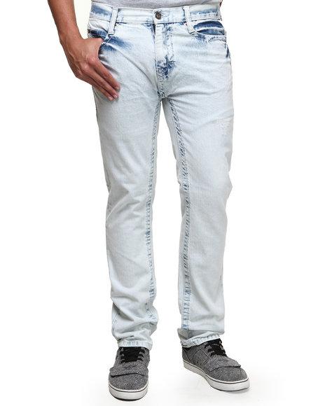 Buyers Picks - Men Light Blue Sandblast Vintage Washed Denim Jeans
