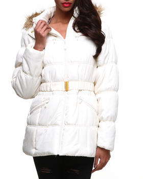 Apple Bottoms - Mid Length Hooded Puffer