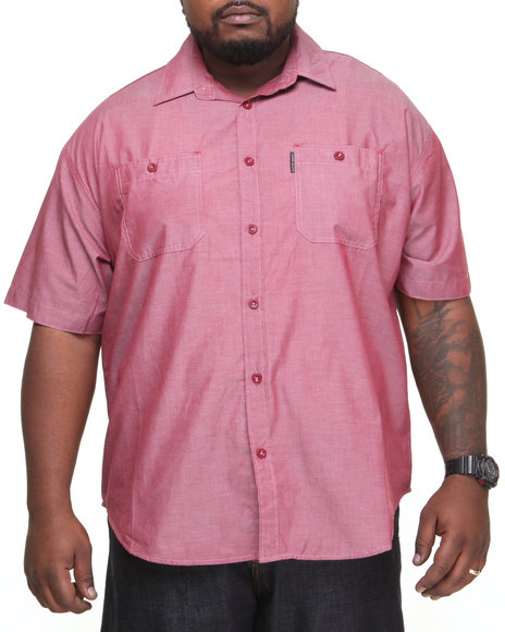 Ecko - Men Red Solid Arity S/S Button-Down (B&T)