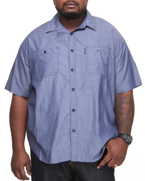 Ecko - Men Blue Solid Arity S/S Button-Down (B&T)