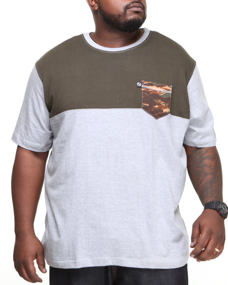 Ecko - Men Grey Color Block T-Shirt (B&T)