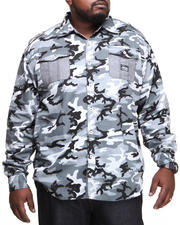 Men - Alpha All Over Camo Roll Up Botton Down Shirt (B&T)