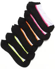Women - Cushion 6Pk Active Noshow Stripe Socks