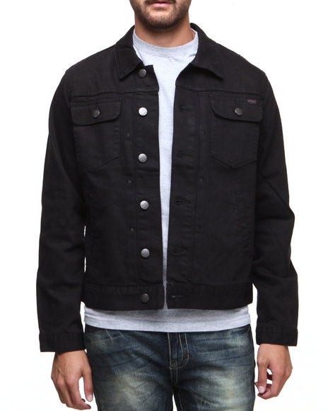 LRG - Men Black Core Collection Denim Jacket