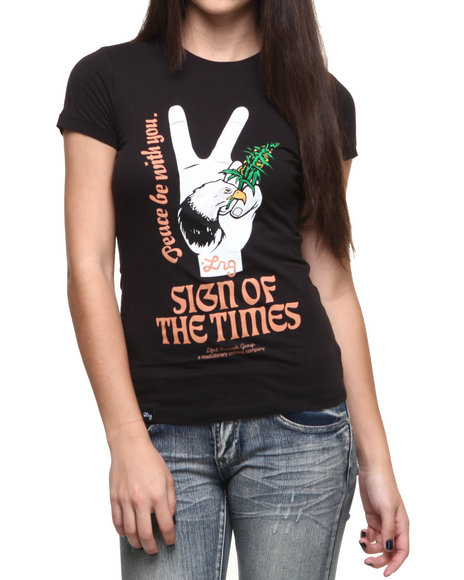 LRG Black Sign Of The Times Tee