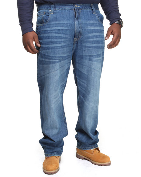 Enyce Light Wash Revolution Flap Denim Jeans (Big & Tall)