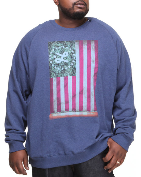 Lrg - Men Navy Lifted Glory Crewneck Sweatshirt (B&T)