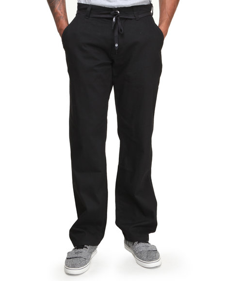 JSLV Black Worker Twill Regular Fit Pants