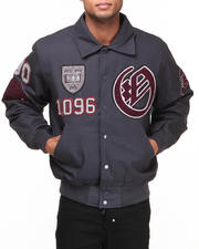 Men - Oxford Univesity Big Red Padded Canvas Ivy League Varsity Jacket