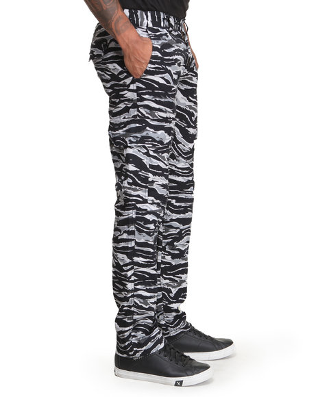 Lrg - Men Grey Core Collection True-Straight Cargo Pants